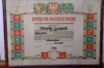 Dyplom mistrzowski – Miczysław Szczytyński