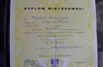 Dyplom mistrzowski – Przemysław Szczytyński